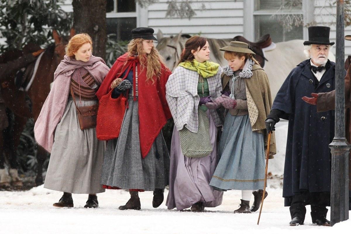 Emma Watson, Florence Pugh, Saoirse Ronan and Eliza Scanlen in Little Women 2019
