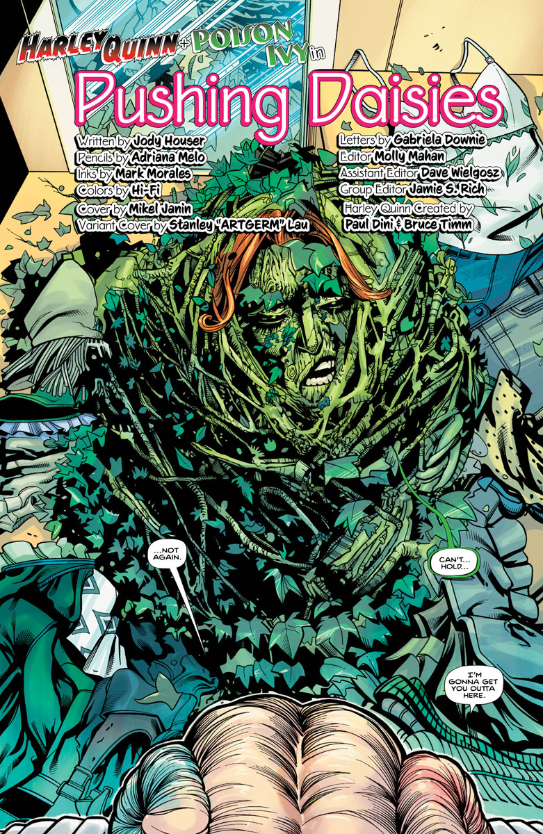 Harley Quinn and Poison Ivy #1, Page 6, Ivy Covered In Ivy.