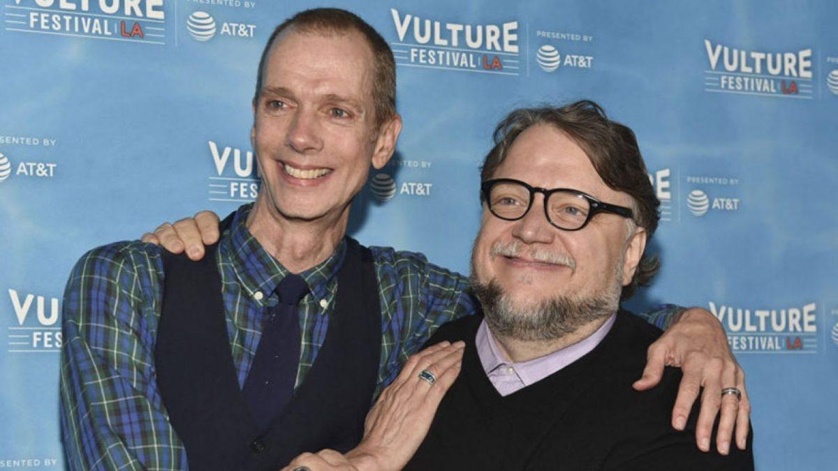 Doug Jones and Guillermo del Toro posing for a photo at Vulture Festival LA.