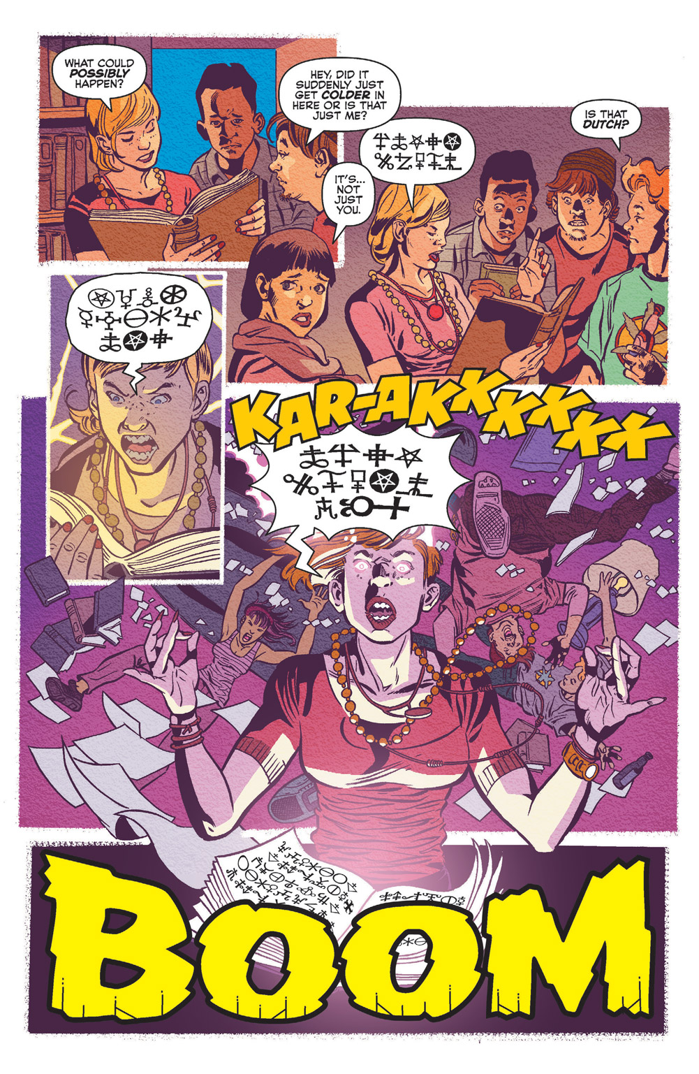 Jinx reading from the Book of Lucifer in Jughead: the Hunger vs. Vampironica #3