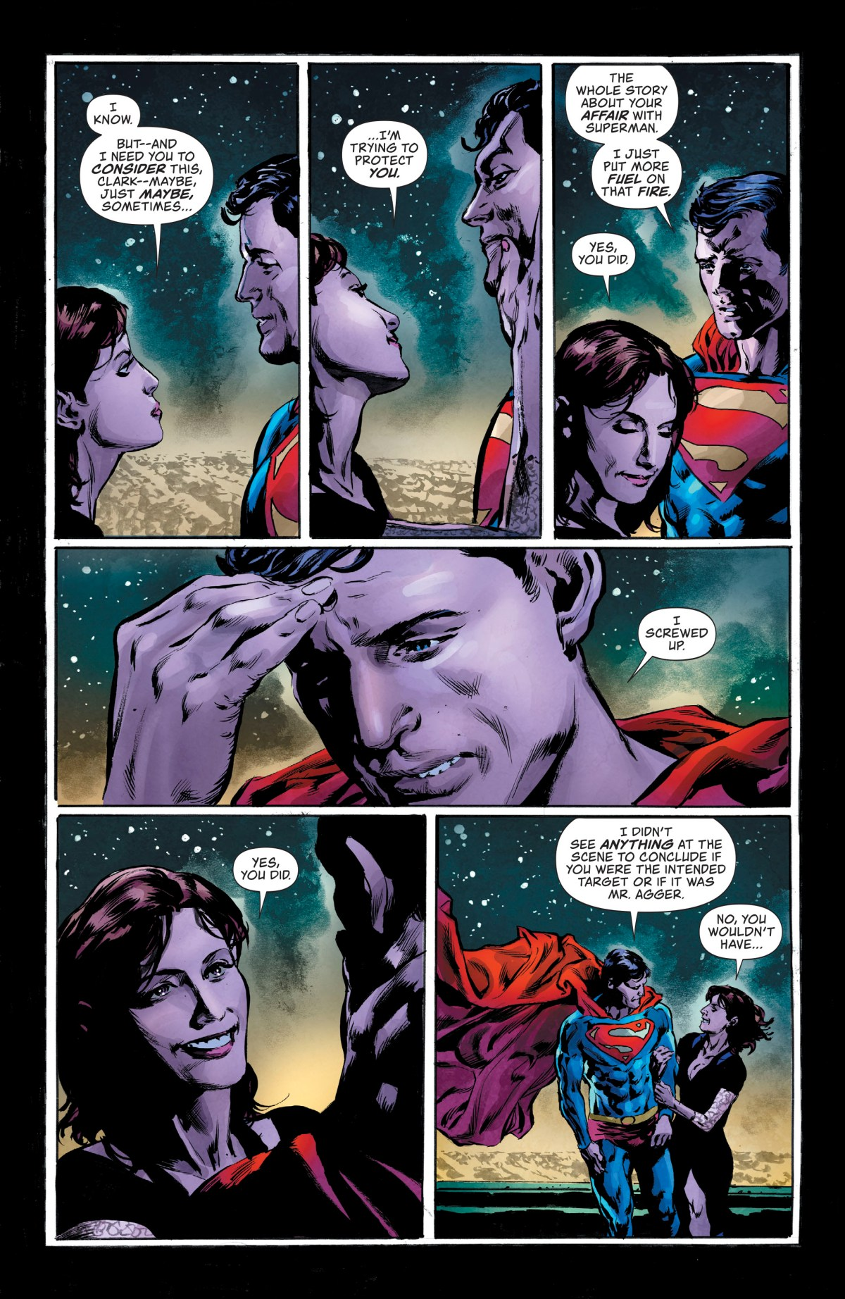 Lois and Clark have a frank conversation.