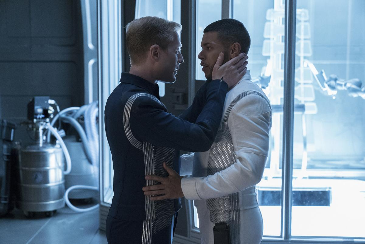 Stamets and Culber of Star Trek: Discovery share an intimate moment