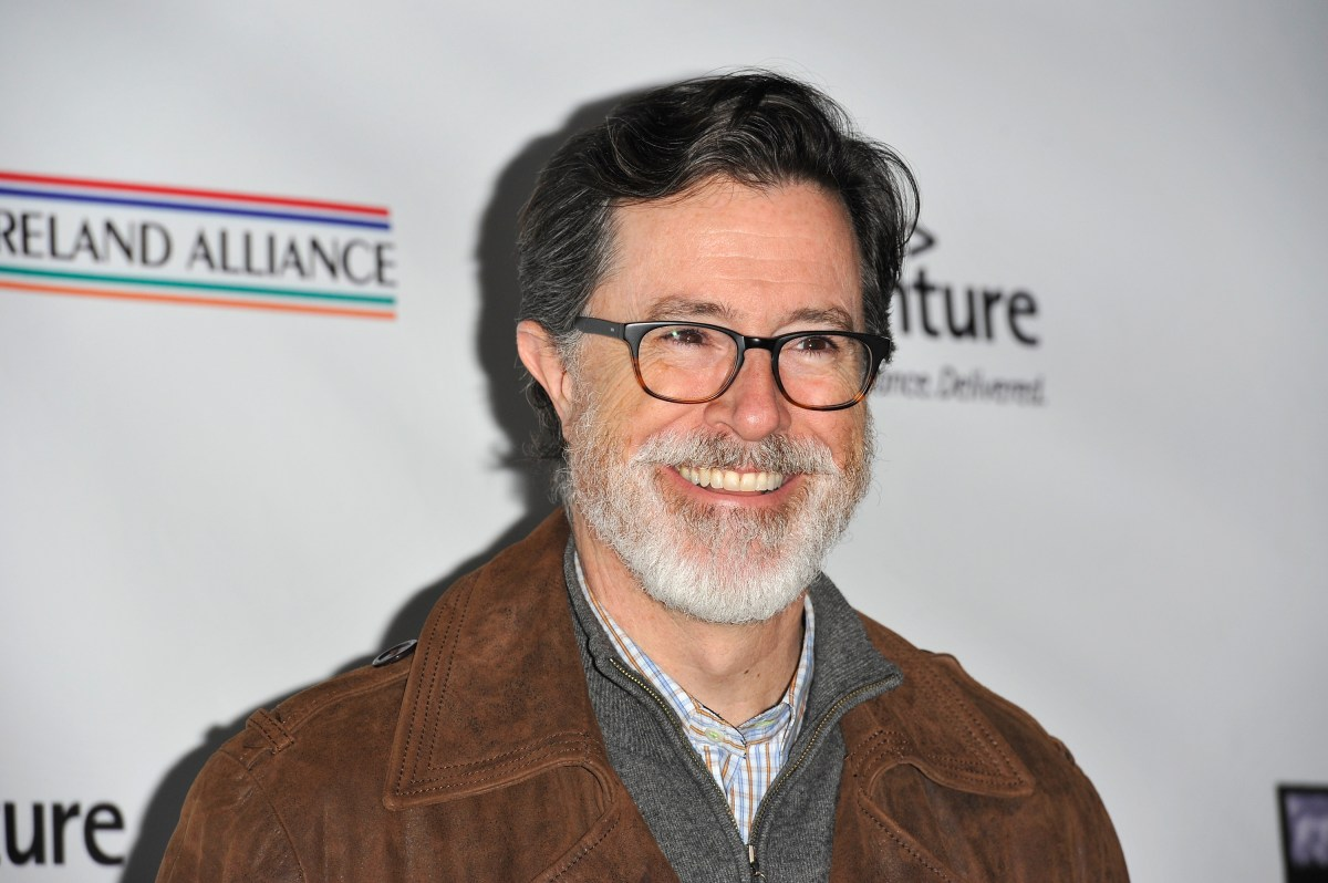 Stephen Colbert has a middle-aged man's beard, folks.