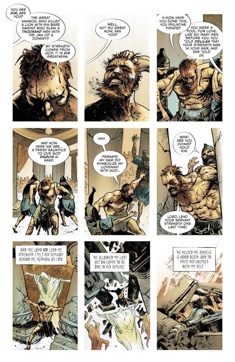 Lucifer #12: Page #1, Samson commits suicide.