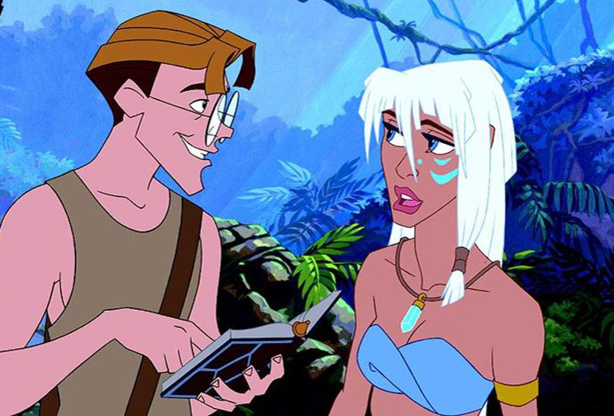 "Milo and Kida from the millennials underrated film ""Atlantis: the Lost Empire."""