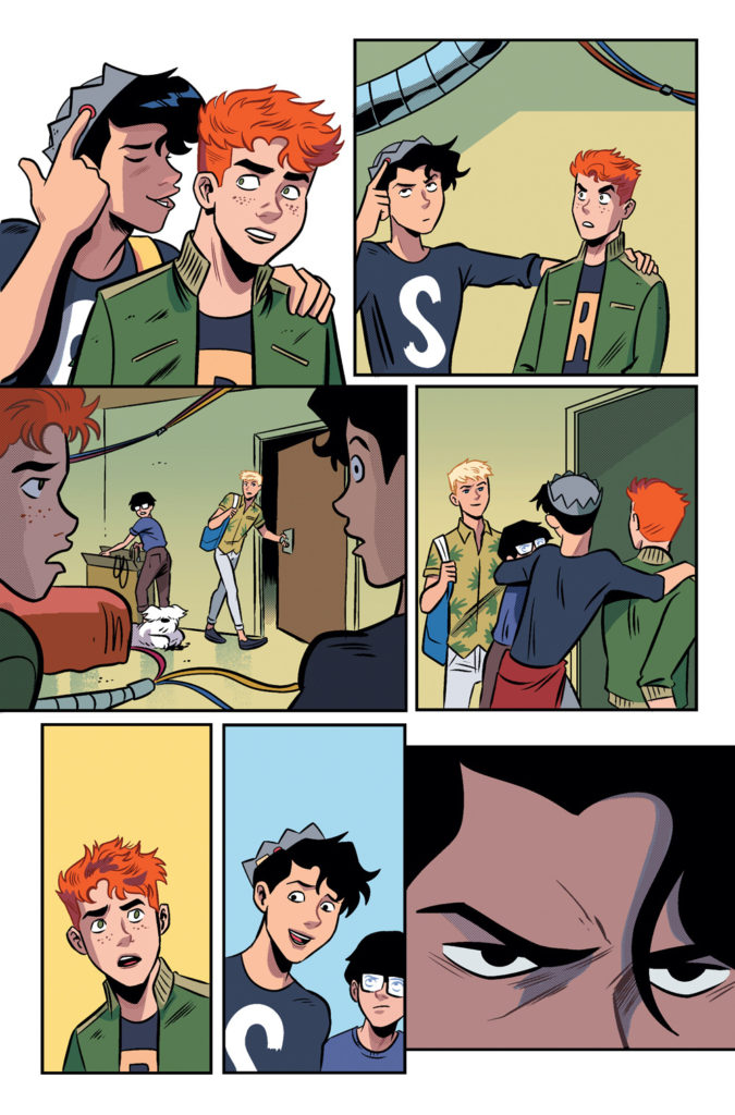 Jughead finally back home after everything he's been through.
