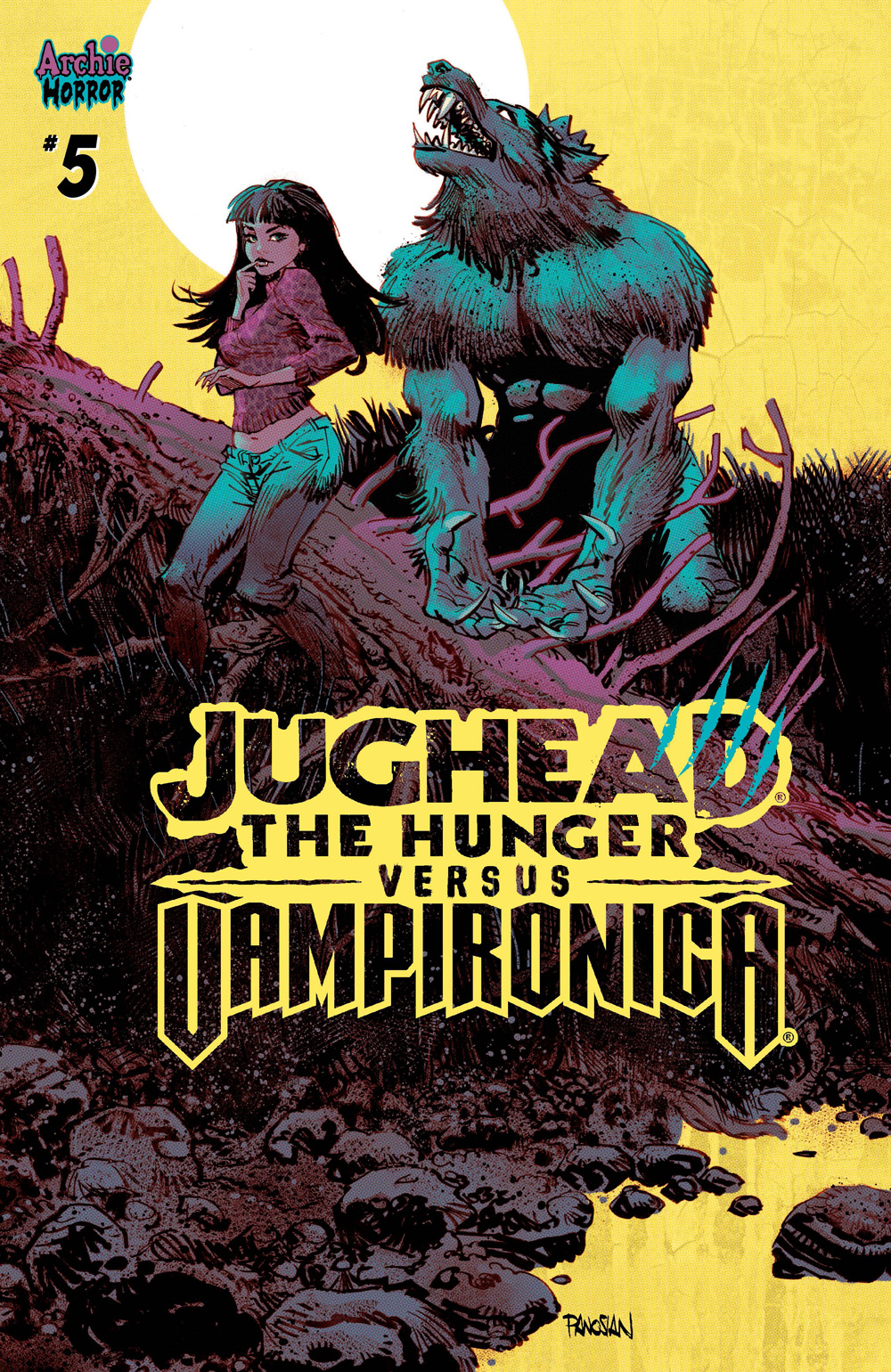 A variant cover for Jughead the Hunger Vs Vampironica #5.