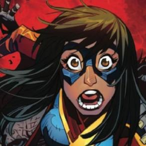 The Magnificient Ms Marvel #8, Kamala fights off an army of zombies.