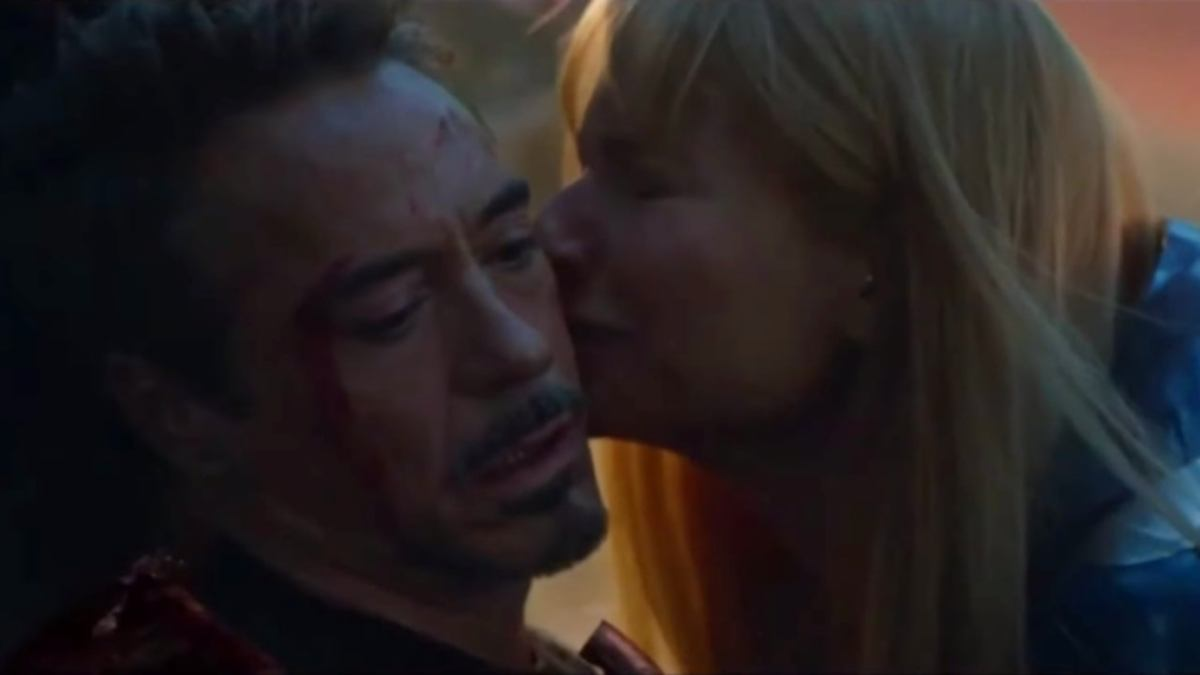 Pepper Potts kisses Tony Stark goodbye, an obviously deeply emotional connection to argue against Martin Scorsese's point