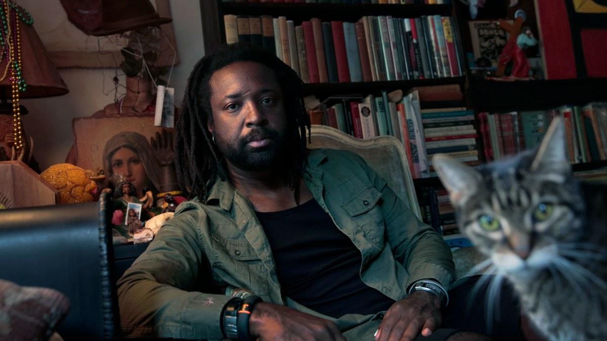 Marlon James, writer of Black Leopard Red Wolf.