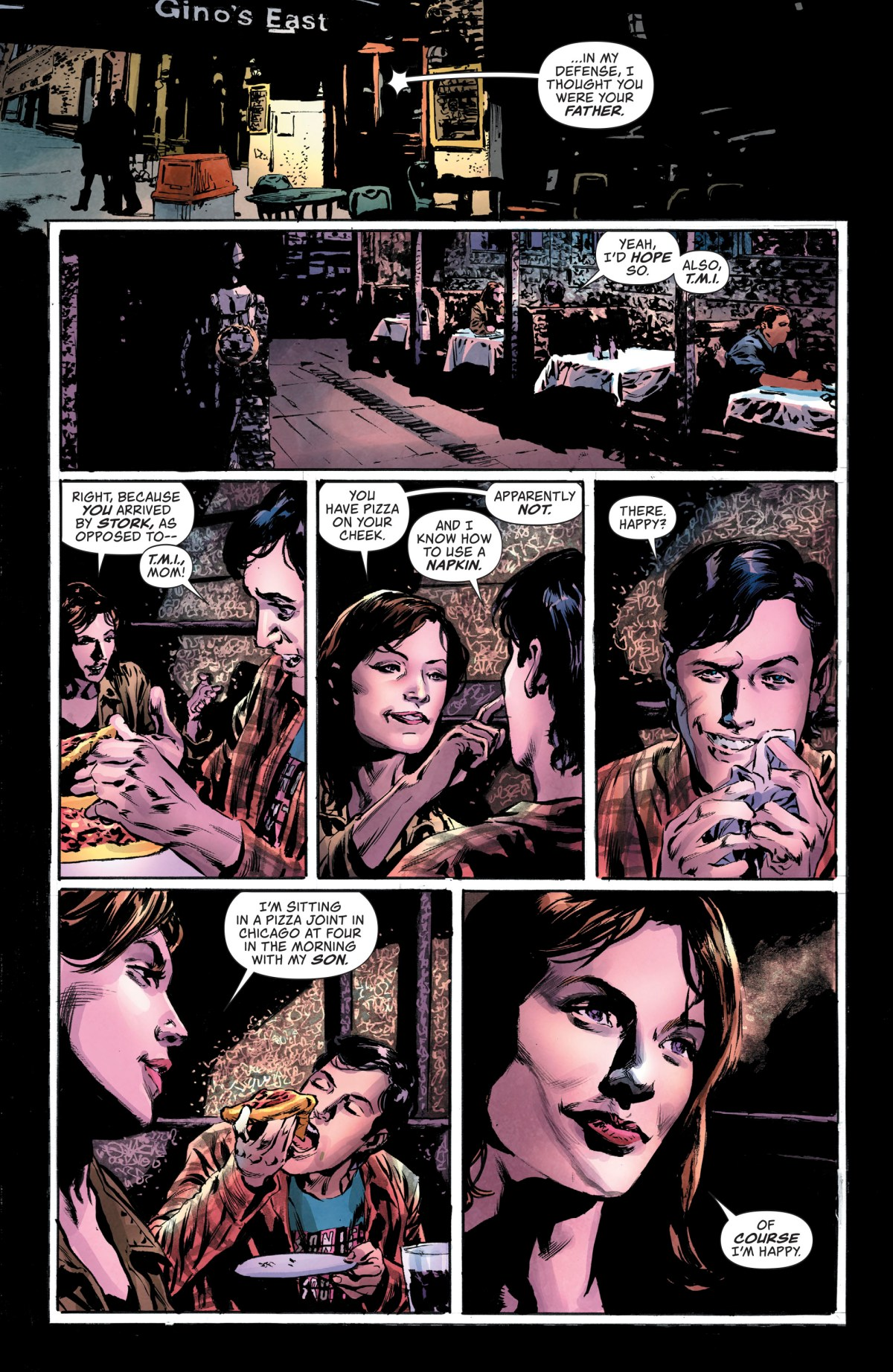 Lois talks to her son in Lois Lane #4.