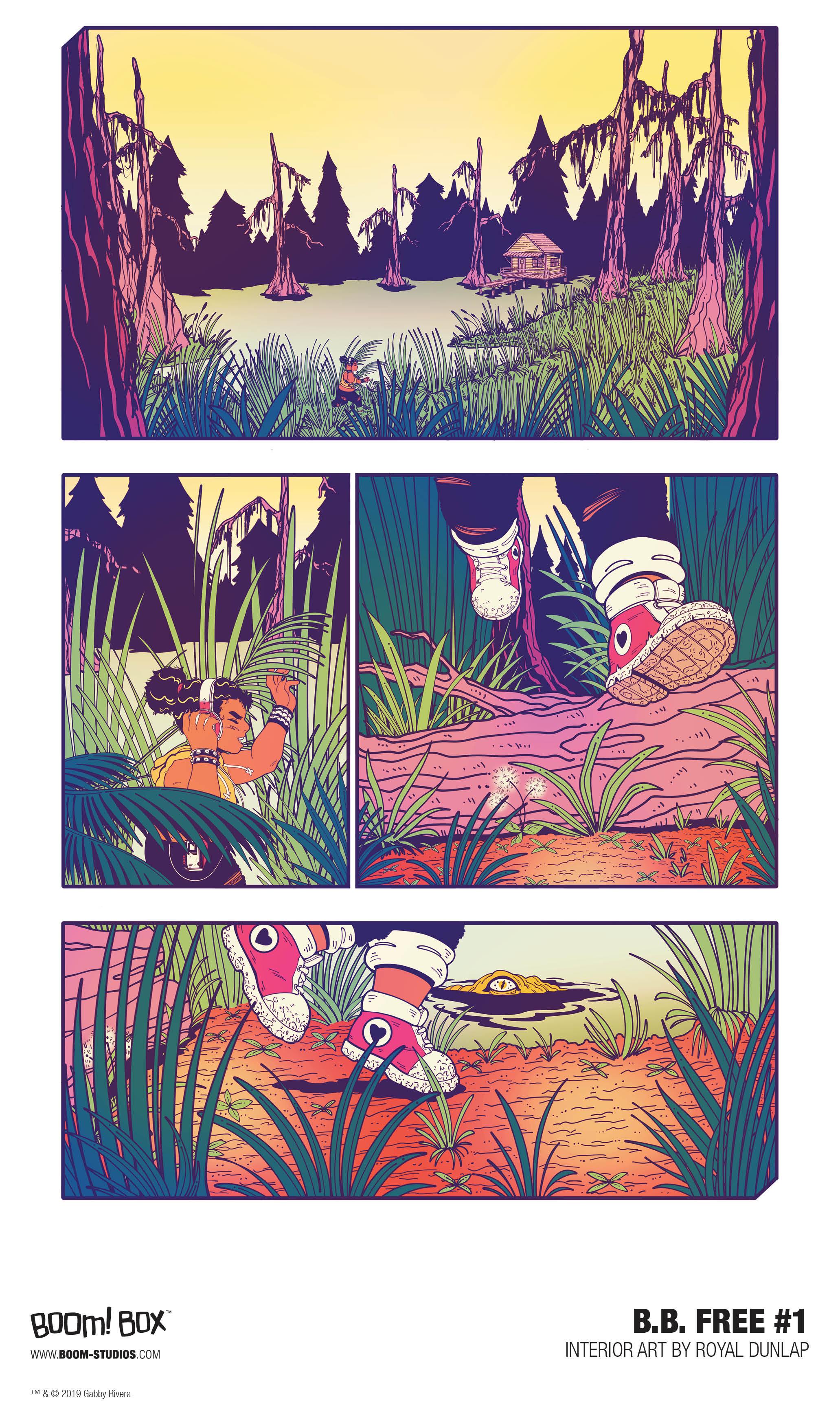 b.b. free #1 -- Page 1 -- under BOOM! Box.