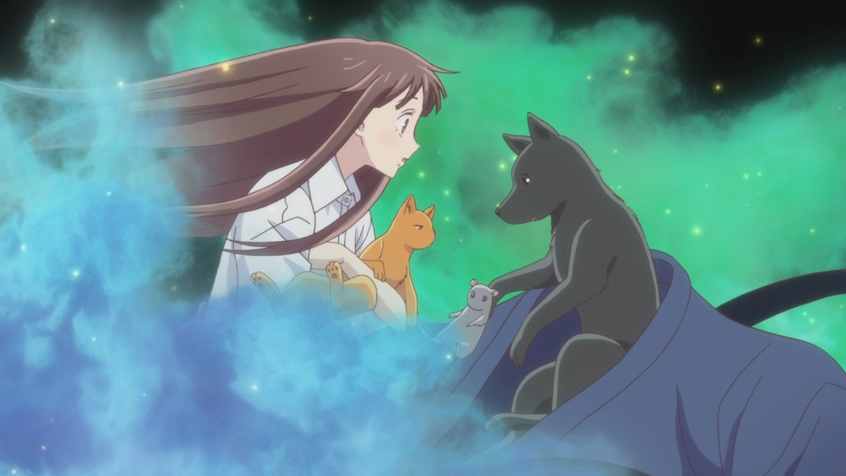 Fruits Basket, Episode I'm Going, Tohru sees Yuki, Kyo and Shigure in animal form