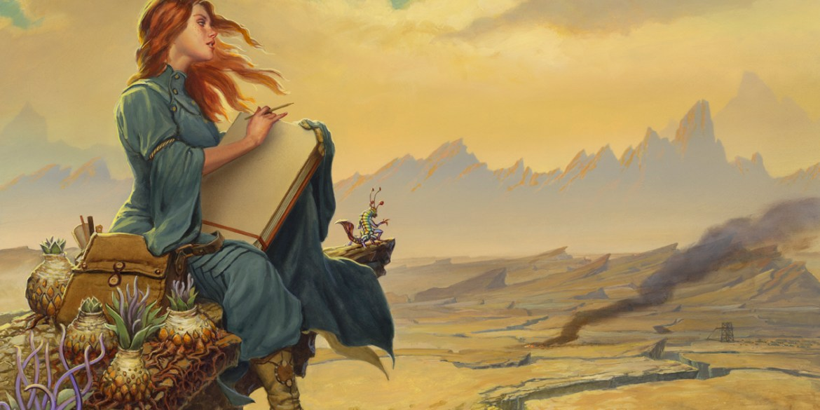 Shallan in the Stormlight Archive.