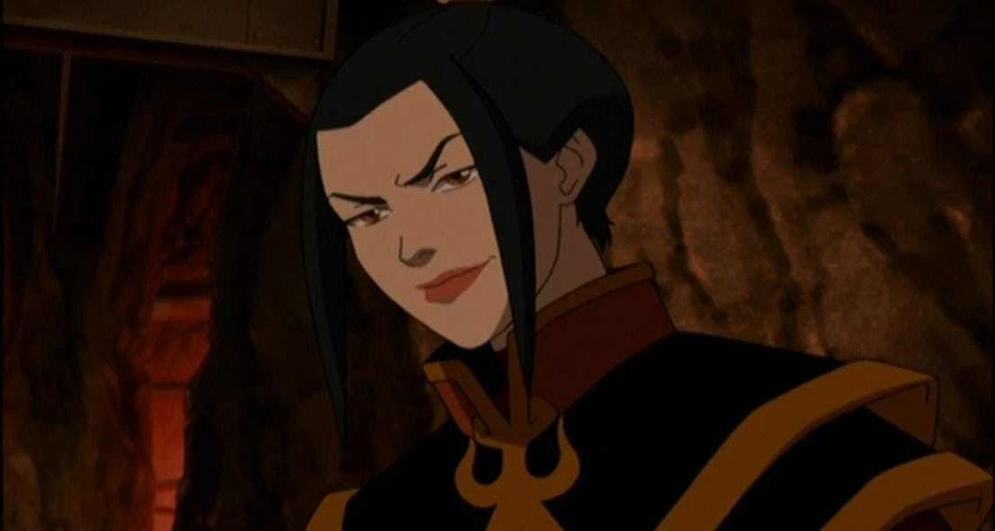 Princess Azula looking evil and threatening.
