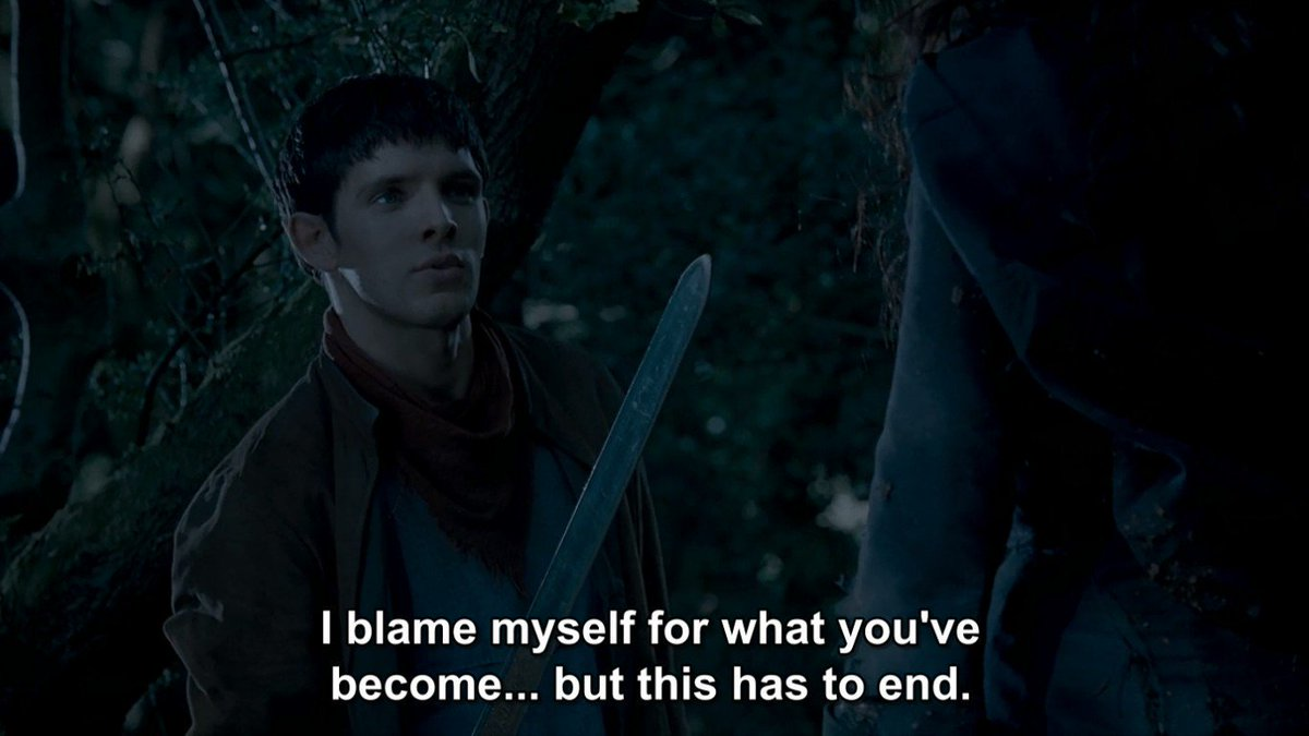 Mergana: Merlin confronts Morgana after Camlann
