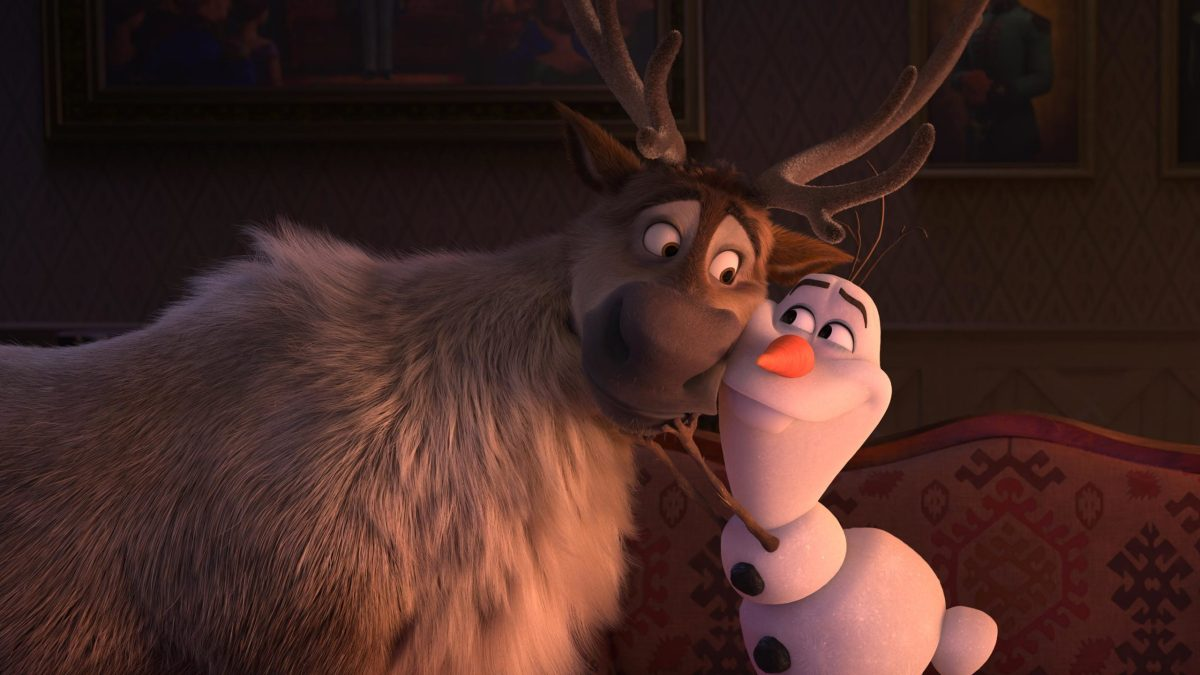 Sven and Olaf being adorable.