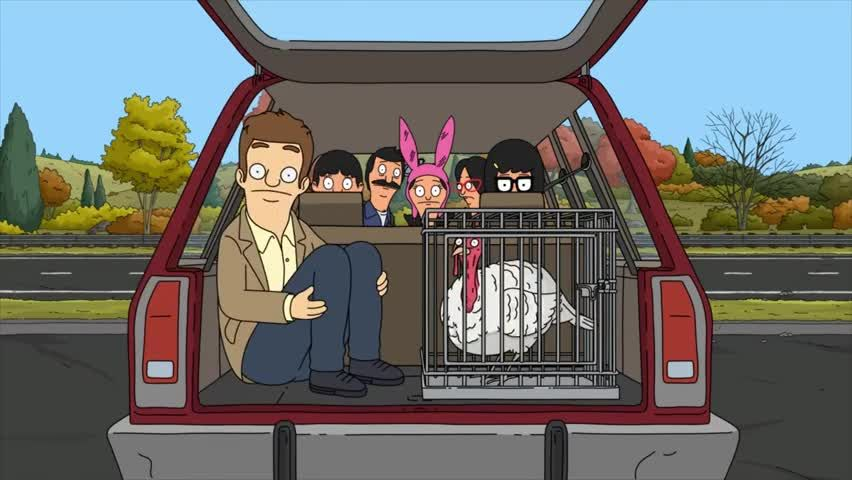 "In ""Bob's Burgers'"" seventh Thanksgiving special, the Belchers and Ralph ride off with Drew P. Neck."