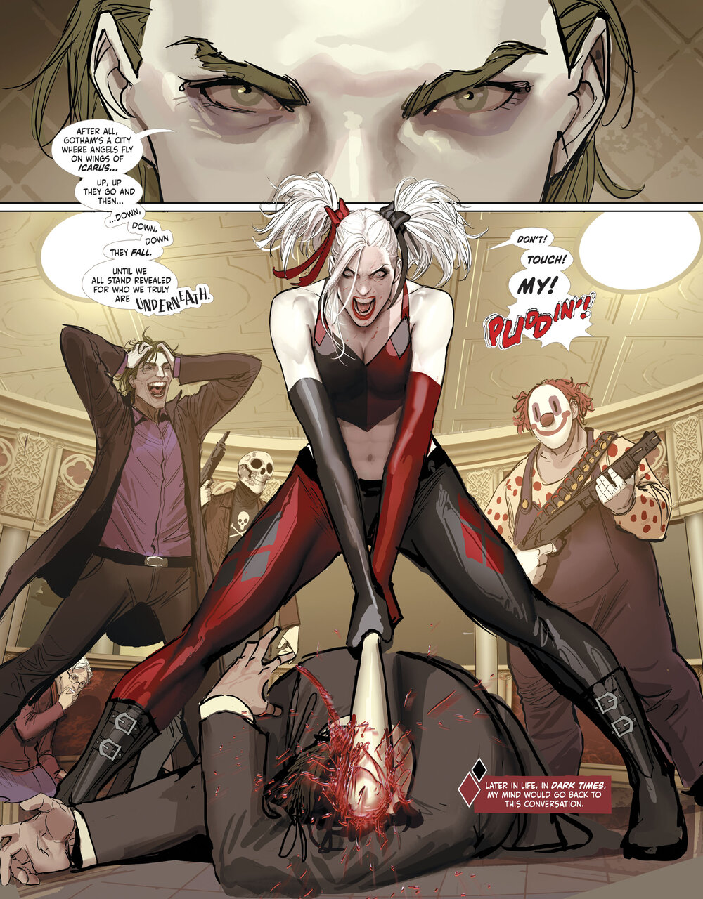 A moment of anger in Harleen #2.