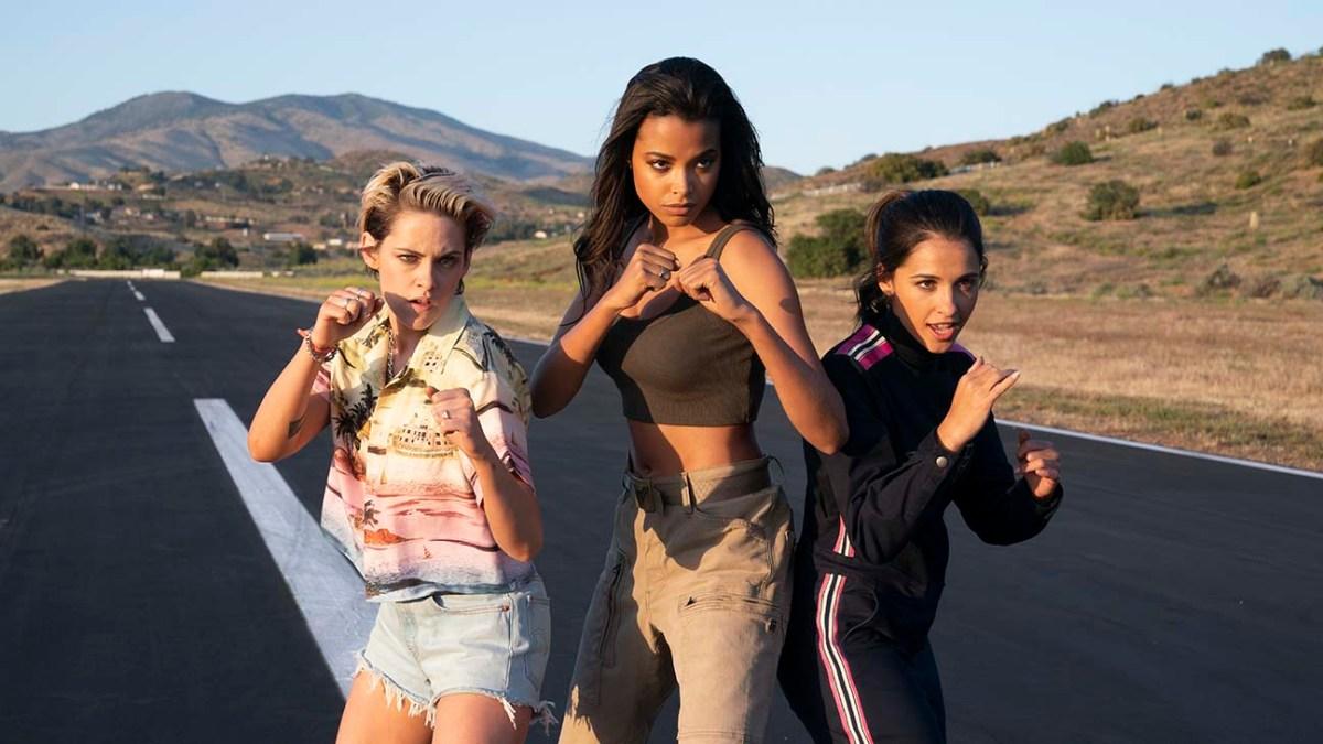 Kristen Stewart, Ella Balinska and Naomi Scott star in Charlie's Angels.
