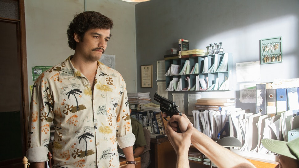 Pablo Escobar in the original Narcos.