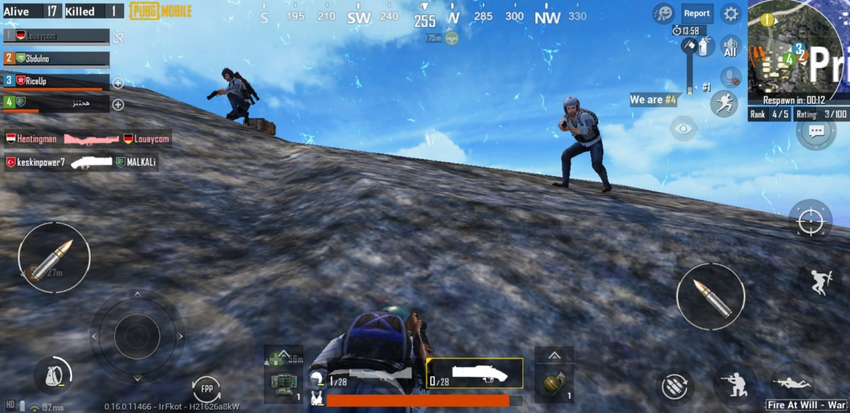 PUBG Mobile's Payload x War Mode RageGear features only rocket and grenade launchers for weapons options.