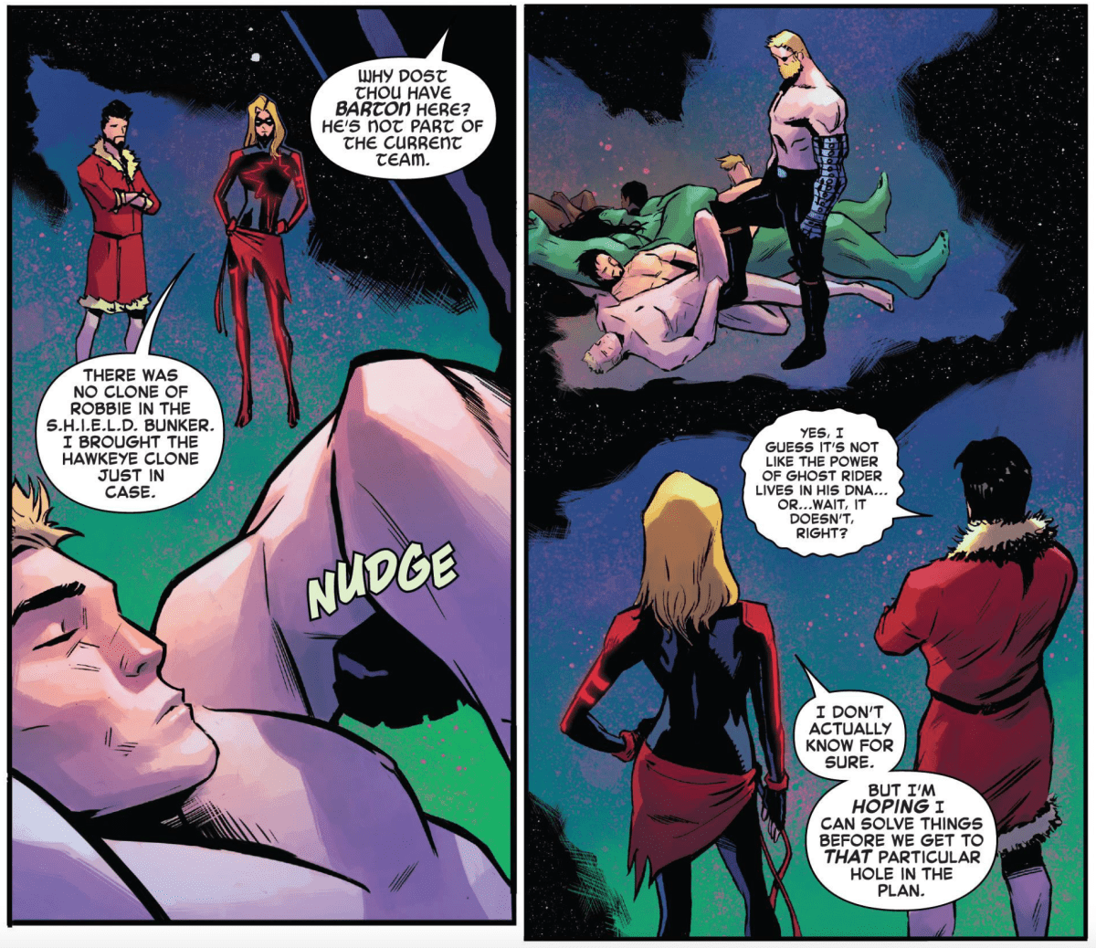 Page #6 of Captain Marvel #14.