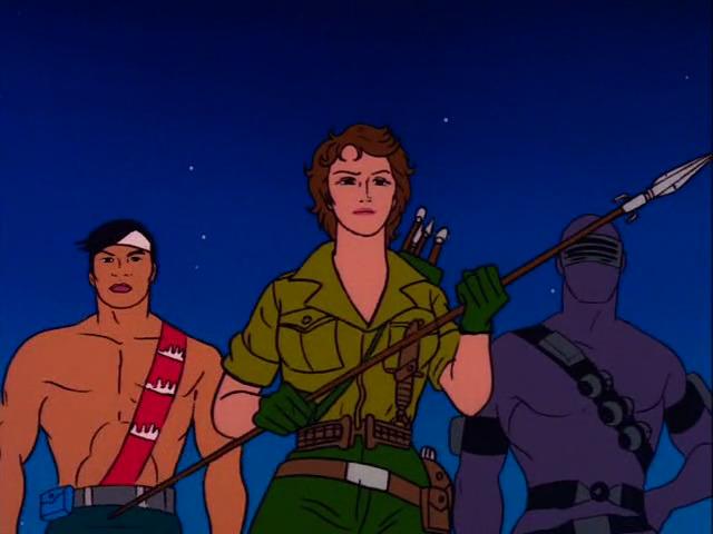 Quick Kick, Lady Jaye, and Snake Eyes from the G.I. Joe Sunbow cartoon.