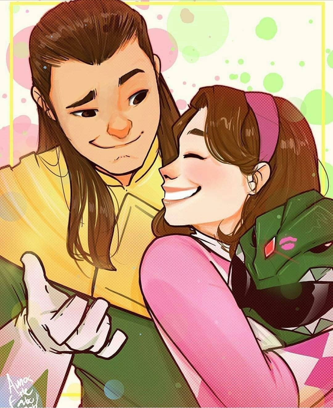 Fan art of Kimberly Hart/Tommy Oliver