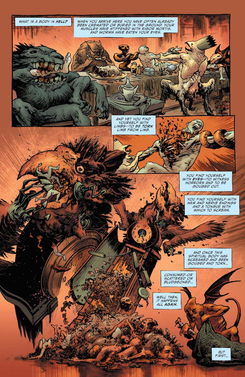 Lucifer #16, Page #1; In the depths of Hell