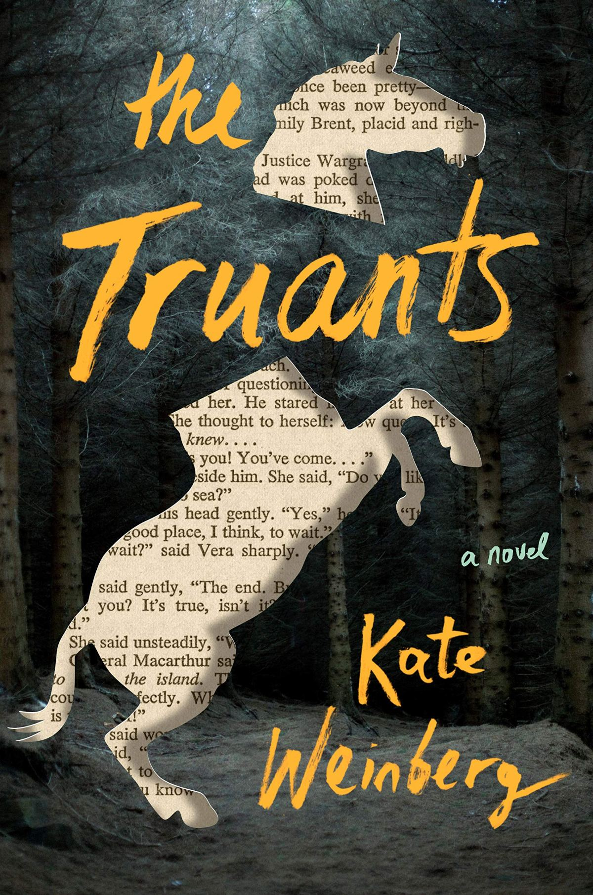 The Truants book cover with a cutout of a horse against a dark forest.