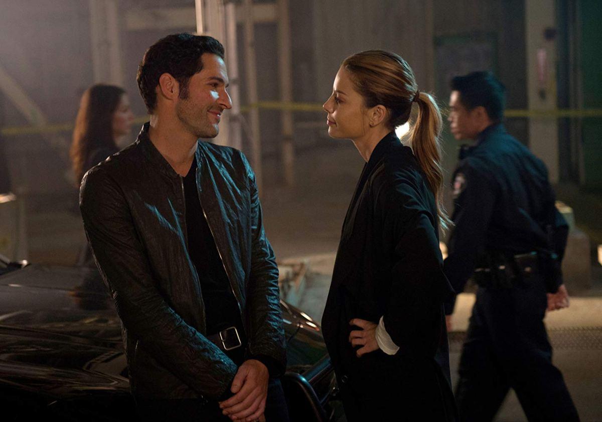 Lucifer Morningstar and Chloe Decker at a crime scene.