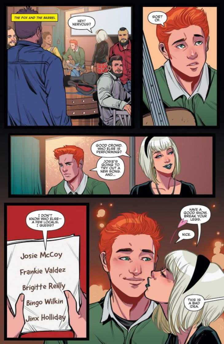 Sabrina wishes Archie luck in Archie and Katy Keene #1.