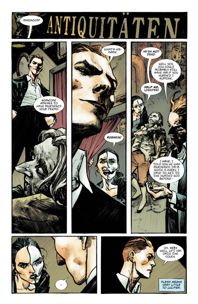 Lucifer #17, Page #5: Lucifer speaks with Mazikeen
