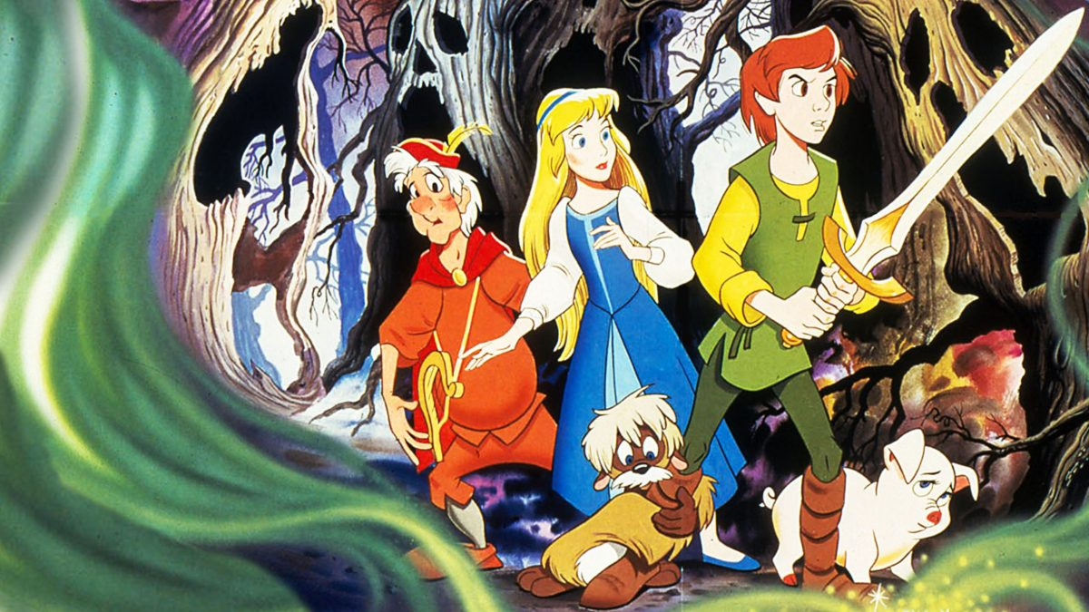 Taran with Eliony and Gurgie, from Th Black Cauldron.