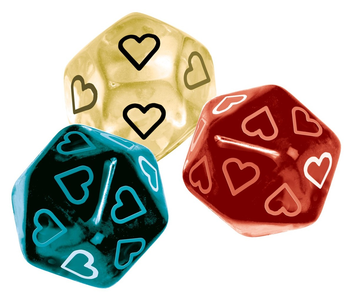 Valentine's Day: 20 sided Dice.