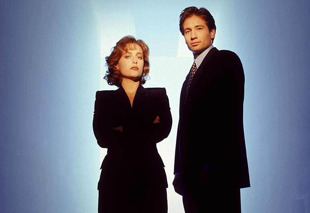Gillian Anderson and David Duchovny of The X-Files, one of the tv shows that was very weird