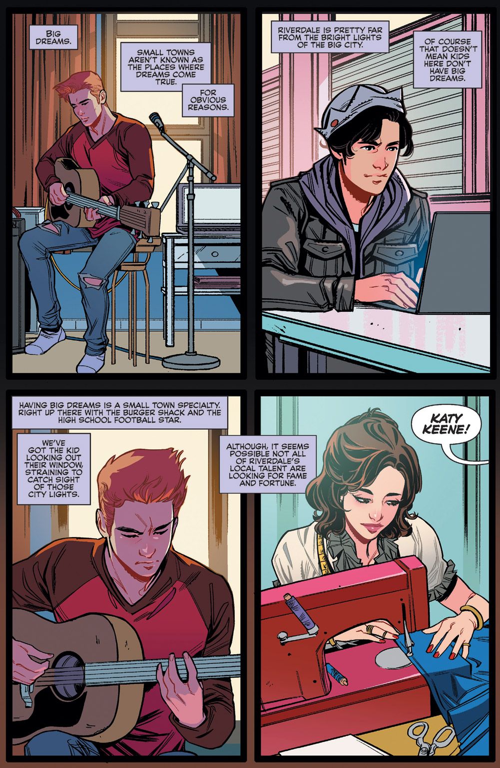 Jughead Narrating the story being told.