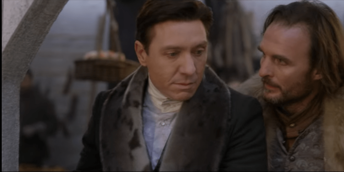 Shawn Doyle as Samuel Grant and Greg Bryk as Cobbs Pond in Frontier