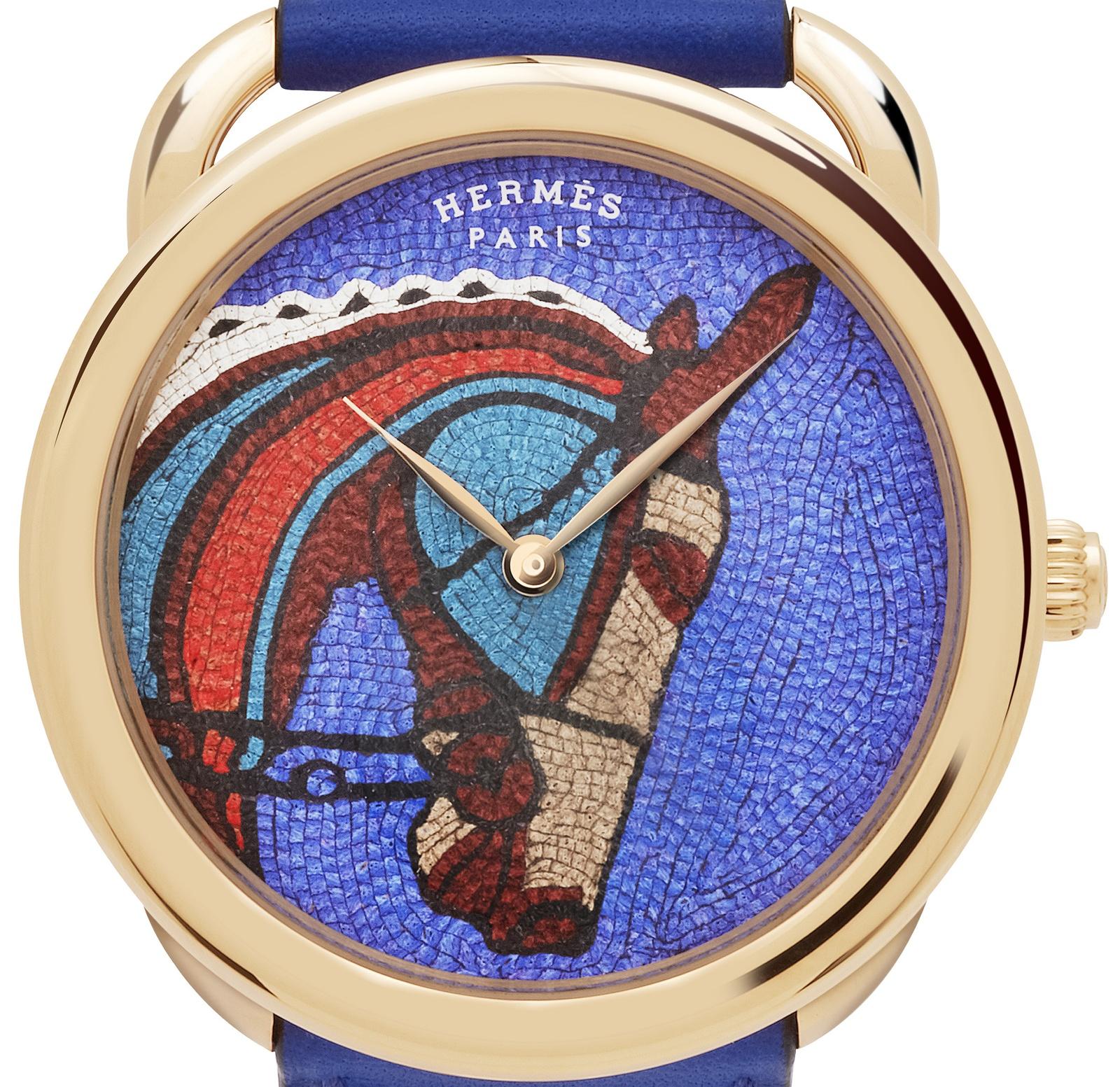 Hermes Arceau Robe du Soir dial close up