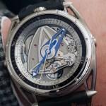 De Bethune DB28GS Grand Bleu wrist