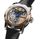 Louis Moinet Transcontinental Steel & Rose gold