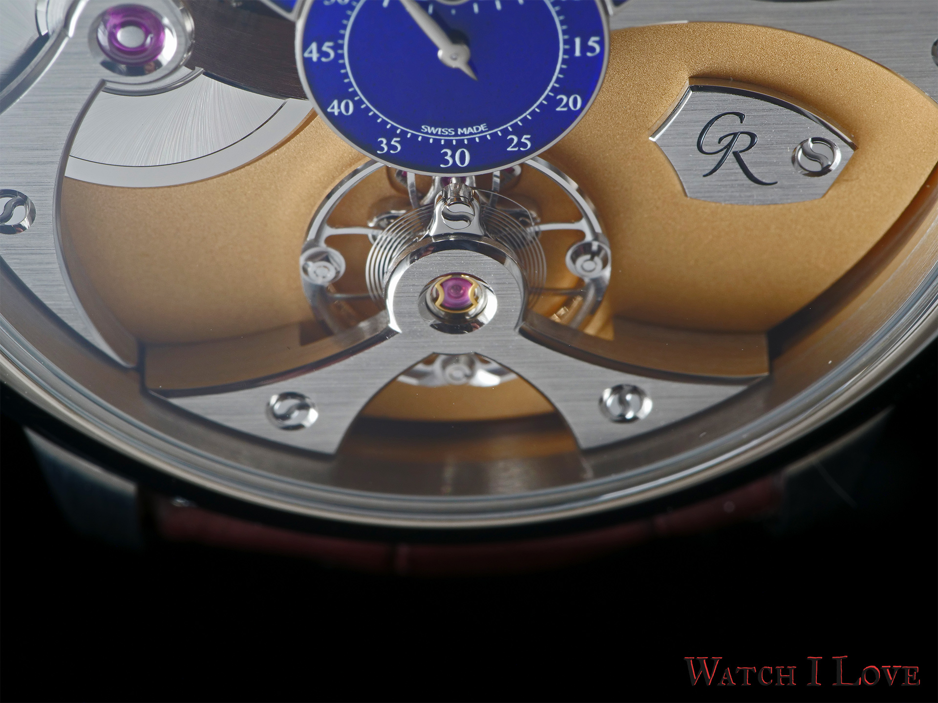 Romain Gauthier Micro-Rotor white gold limited editions escapement