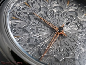 Another detail view of the R. Baptiste Vicomte dial