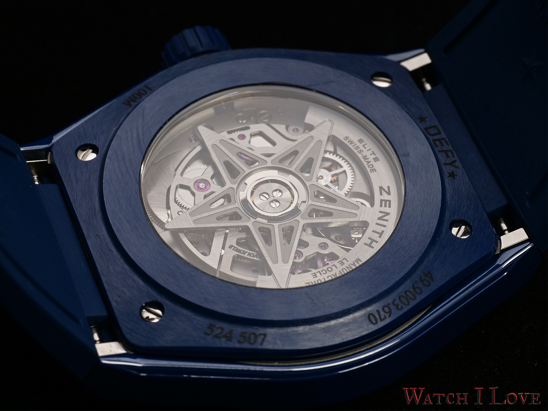 The back side of the Defy Classic Ceramic