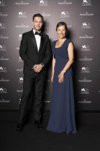Nicholas Hoult and CEO of Jaeger-LeCoultre Catherine Rénier at Jaeger-LeCoultre Gala Dinner Nicholas Hoult and Catherine Renier at the Jaeger-LeCoultre Gala Dinner during the 76th Venice International Film Festival at i Granai di Cipriani. Venice, 30th August 2019 (Photo by Sebastiano Pessina for Jaeger-LeCoultre)