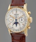 Ref. 2499 A possibly unique, previously unknown, and extremely well-preserved yellow gold perpetual calendar chronograph wristwatch with moon phase, retailed by Gübelin