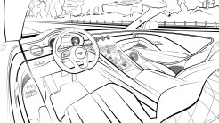Line Drawing - Bacalar Interior