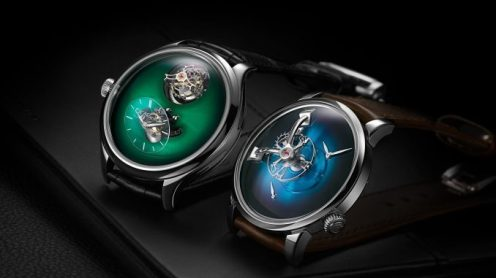 H. Moser Endeavour Cylindrical Tourbillon and MB&F X Moser LM101