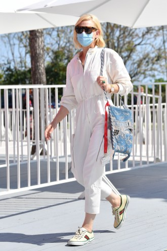 VENICE, ITALY - SEPTEMBER 04: Cate Blanchett is seen arriving at the 77th Venice Film Festival on September 04, 2020 in Venice, Italy. (Photo by Jacopo Raule/GC Images,)